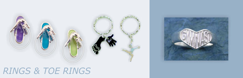 Shop Rings, Toe Rings and Key Rings